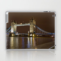 Tower Bridge at Night Laptop & iPad Skin by Alice Gosling