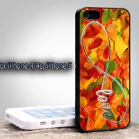 Leaves Infinity Love For Apple Phone, IPhone 4/4S Case, IPhone 5 Case, Cover Plastic