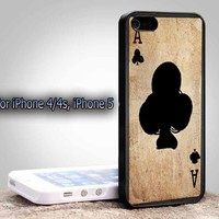 Card AceFor Apple Phone, IPhone 4/4S Case, IPhone 5 Case, Cover Plastic