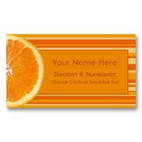 Zesty Citrus Orange and Stripes Business Cards from Zazzle.com