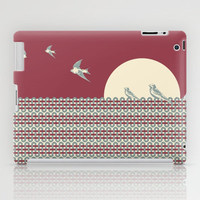 One morning on a fence iPad Case by Paula Belle Flores