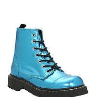 Anarchic By T.U.K. Turquoise Metallic 7 Eye Boot | Hot Topic