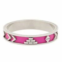 House of Harlow 1960 Aztec Bangle with Fuchsia Leather