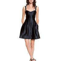 Some of you have to get in on this: Z Spoke by Zac Posen Black Sweetheart Bodice Dress
