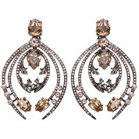 Roberto Cavalli Crystal Clip Earrings