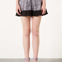 Sequin Contrast Hem Skater Skirt - New In This Week - New In - Topshop USA