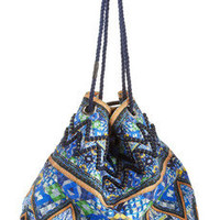 Matthew Williamson | Printed cotton-canvas shoulder bag | NET-A-PORTER.COM