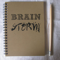 Brain Storm - 5 x 7 journal
