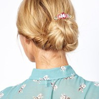 Limited Edition Premium Hair Brooch with Rectangle Glass Stones at asos.com