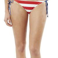 Patriotic Tieside Bikini Bottom | Shop Americana at Wet Seal