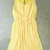 Yellow Pleated Daffodil Dress [9999] - $44.00 : Vintage Inspired Clothing & Affordable Summer Frocks, deloom | Modern. Vintage. Crafted.