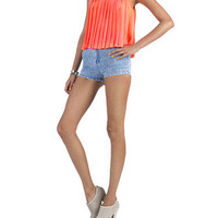 Neon Slit Back Pleated Tank | 2020AVE