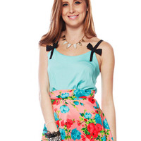 Papaya Clothing Online :: BOW TRIM SLEEVELESS TOP