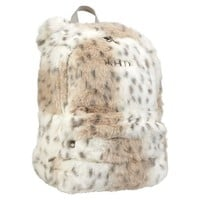 Fur Snow Leopard Backpack