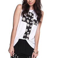 Workshop Daisy Cross Muscle Tank at PacSun.com