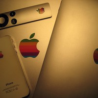 Retro Apple Logo Decals