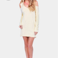 Terry-in' Up My Heart Cream Dress