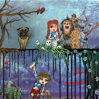 OZ Painting by Laura Barbosa - OZ Fine Art Prints and Posters for Sale