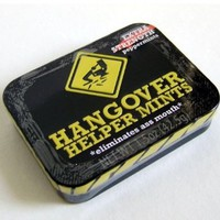 Hangover Helper Mints Tin Extra Strength Gift Gag College Drinking Party Joke: Amazon.com: Grocery & Gourmet Food
