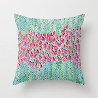 :: Smell The Roses :: Throw Pillow by GaleStorm Artworks