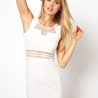 Mini Dress with Mesh Insert