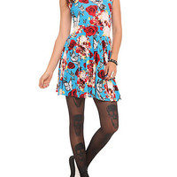 Teenage Runaway Rose Skull Butterfly Dress | Hot Topic