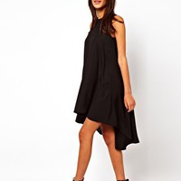 ASOS Sleeveless Swing Dress With Dipped Back at asos.com