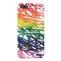 Rainbow Scribbles iPhone 5 Case from Zazzle.com