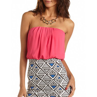 Geo 2-Fer Body-Con Dress: Charlotte Russe