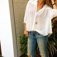 Free People  Marahilvosa Buttondown at Free People Clothing Boutique