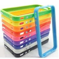 Pack of 10 X TPU Silicone Bumper Frame Case W/ Metal Buttons for iPhone 4 4G 4S - 10Pcs:Amazon:Cell Phones & Accessories