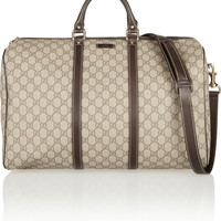 Gucci | Monogrammed canvas weekend bag | NET-A-PORTER.COM