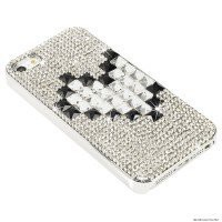Swarovski Crystal & Czech Rhinestone Plating Snap on BLING Back Cover Case for Iphone 5 by Jersey Bling (Main)