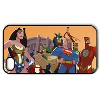 ByHeart justice league Hard Back Case Skin for Apple iPhone 4 and 4S - 1 Pack - Retail Packaging - 4912