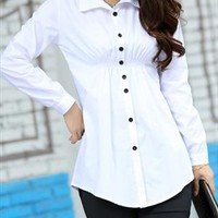 white summer spring blouse elegant style sale 017X from GHL