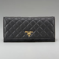 Saffiano Quilted Continental Wallet