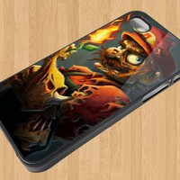 Super Mario Zombie Iphone case for Iphone Case 4 4S sm945
