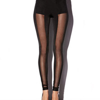 Vertical Mesh Leggings