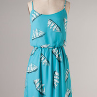 See Sea Dress: Blue [21-D8435-13] - $48.99 : Spotted Moth, Chic and sweet clothing and accessories for women