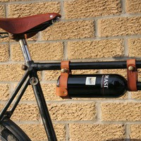 "$29.80 Bicycle Wine Rack Leather 1"" frame by oopsmark on Etsy"