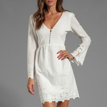 DV by Dolce Vita Jilisa Sunflower Lace Dress in Frost from REVOLVEclothing.com
