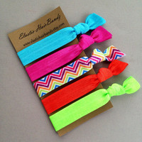 The Brandy Hair Tie Collection - 5 Elastic Hair Ties by Elastic Hair Bandz on Etsy