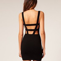 ASOS | ASOS Body-Conscious Dress with Strap Back Detail at ASOS