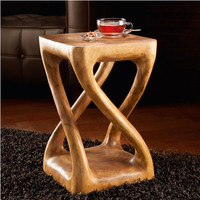 Monkey Pod Stool - An ornate wooden object with ethnic appeal. Or a pedestal. Or side table. Or a sturdy stool. - Pro-Idee Concept Store - new ideas from around the world