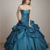 Fashion with Pleats Hollow Back Ball Gown Quinceanera Dress QD090