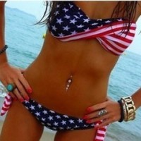 Sexy Star and Stripe Bikini | fashion1