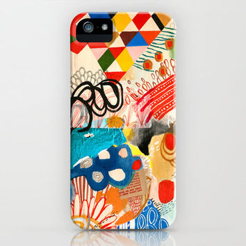 Wallpaper and Diamonds Part I iPhone & iPod Case by Emily Rickard
