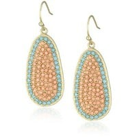 Flying Lizard Designs Turquoise and Orange Crystals Oval Earrings - designer shoes, handbags, jewelry, watches, and fashion accessories | endless.com