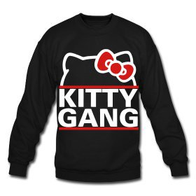 Kitty Gang (White) Crewneck | Simply Dope Clothing