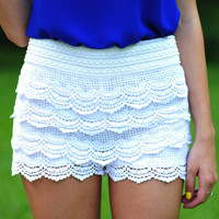 It's So Lacy Shorts: Crisp White | Hope's